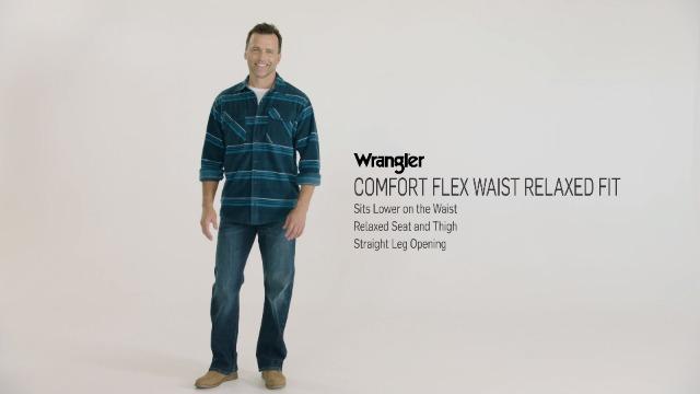 Wrangler Authentics Men's Relaxed Fit Comfort Flex Waist Jean