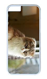 Adorable cat hd Hard Case Protective Shell Cell Phone Cover For Apple Iphone 6 Plus (5.5 Inch) - PC White