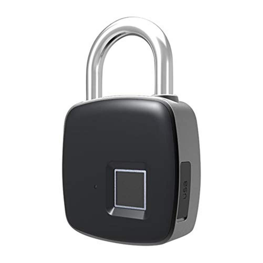 Biback Fingerprint Lock, 1 Second Unlock Portable Smart Biometric Padlock,Security No Password,Waterproof and Anti-Theft Padlock for Golf Bag, Suitcase, Gym Locker, Cupboard, Drawer, Door and More