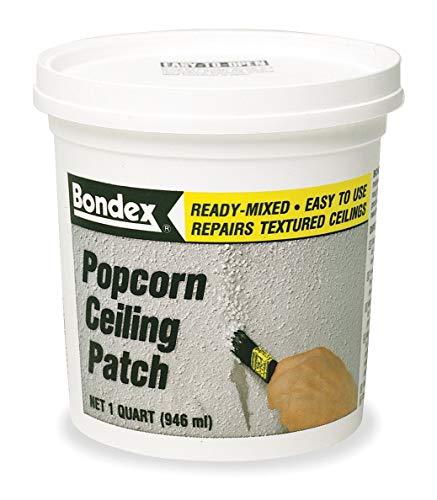 - Popcorn Ceiling Patch, 1 qt, White, Pail