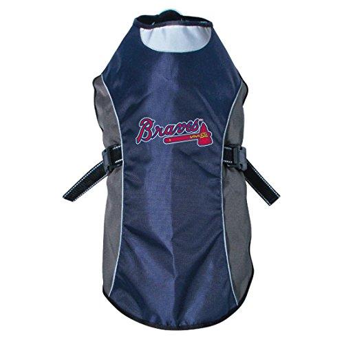 (Hunter MLB Atlanta Braves Reflective Pet Jacket, X-Large, Black or Navy)