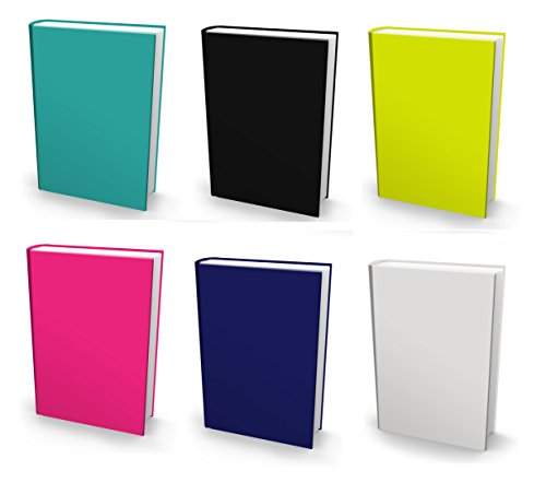 "Book Sox NEW 6 Solids 2018 Stretchable Book Covers –Durable Hardcover Protectors For 9""x11"" Jumbo Textbooks –Washable & Reusable Non-Adhesive Nylon Fabric School Book Jackets In Many Colors & Designs by Book Sox"