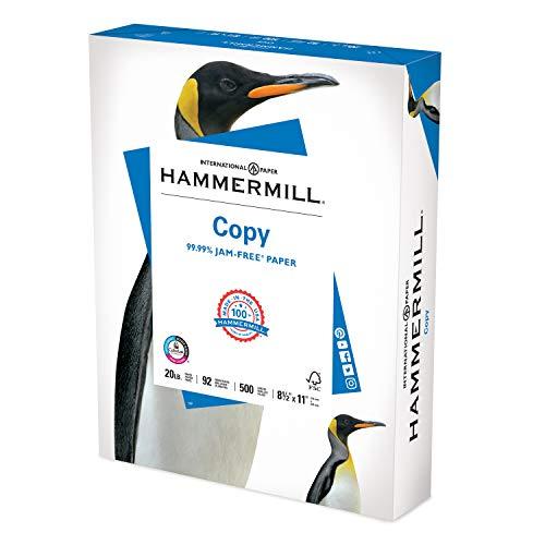 Image of Hammermill Printer Paper, 20 lb Copy Paper, 8.5 x 11 - 1 Ream (500 Sheets)