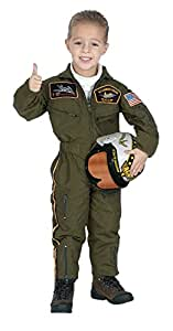 Child (6-8) Air Force Pilot Costume with Helmet