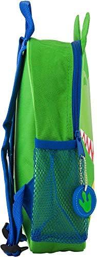 Monogrammed Me Mini Sidekick Backpack with Vinyl SuperHero Monogram Q Green Dinosaur