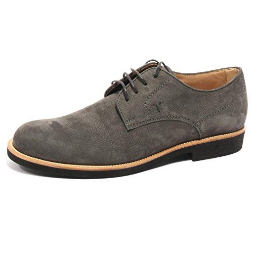 B2032 scarpa uomo TODS DERBY GOMMA LIGHT suede grigio shoe men ombra