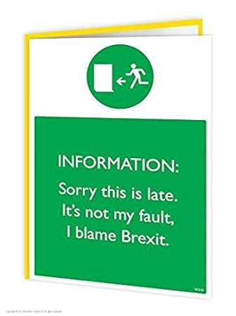 Funny Humorous Blame Brexit Belated Birthday Greetings Card Amazoncouk Office Products