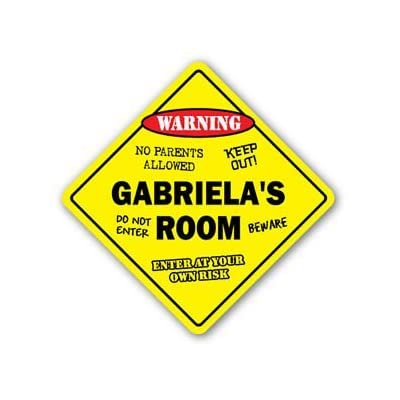 GABRIELA'S ROOM Sticker Sign kids bedroom decor door children's name boy girl gift - Sticker Graphic Personalized Custom Sticker Graphic: Automotive