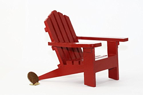 Dollhouse Miniature Adirondack Chair in Red ()
