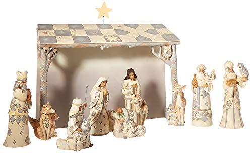 Jim Shore Heartwood Creek JS HWC Fig Wdlnd Mini Nativ Se Figurine (Nativity Jim Shore Set Mini)
