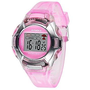 Bella relojes reloj de mujer, Alla Moda reloj digital digital goma banda negro azul rojo