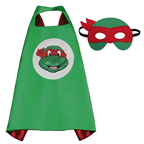 TMNT Satin Cape With Felt Mask for boys or girls