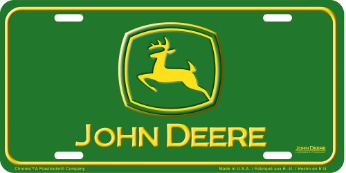 John Deere License Plate Frames - Chroma Graphics 1849 John Deere Auto Tag - Stamped Metal