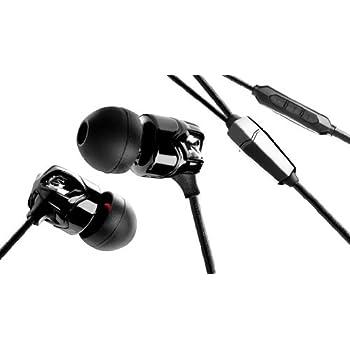 V-MODA Vibrato In-Ear Noise-Isolating Metal Headphone with 3-Button Apple Control (Black/Chrome).