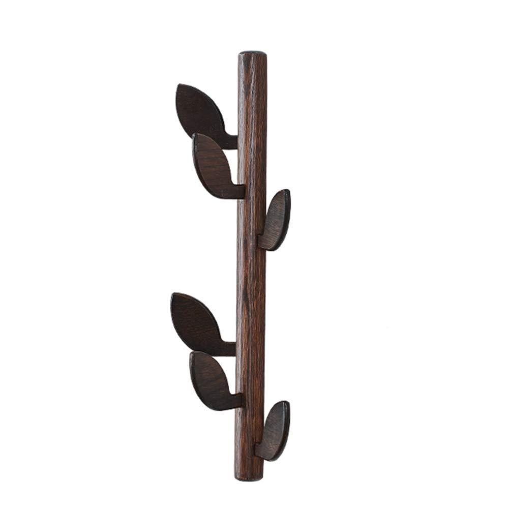 JIANFEI Floor Standing Coat Rack Hat Stand Hanger Tree Hook Wall-Mounted,Oak 3 Colors 2 Size (Color : Black Walnut Color, Size : 20x58cm)