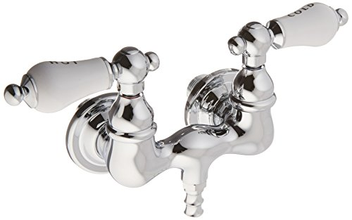 Elements of Design DT0321PL Hot Springs Wall Mount Clawfoot Tub Filler, 4-3/4