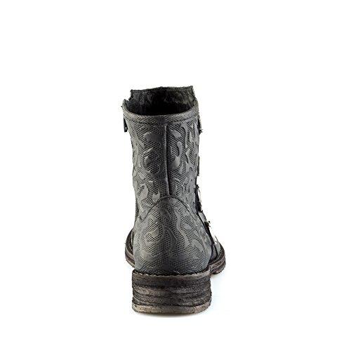 0 Size Noir Bottes Felmini A680 fermeture amour Cuir Tomber en EU avec éclair Femme Noir Cooper à Véritable Chaussures BWBTAZ
