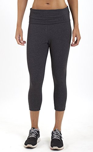 boxercraft HTC Set Yoga Pant Capri Pant & Garment Guide, Charcoal-L