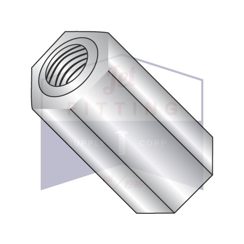 8-32X1 1/8 1/4'' OD Hex Standoffs (Female-Female) | Stainless Steel (QUANTITY: 500) by Jet Fitting & Supply Corp