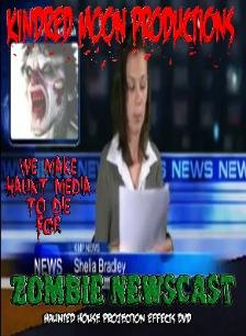 Zombies Newscast Halloween projection effects -