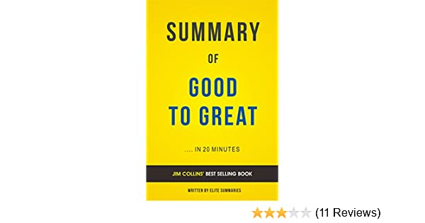 Amazon summary of good to great by jim collins includes amazon summary of good to great by jim collins includes analysis ebook elite summaries kindle store fandeluxe Gallery