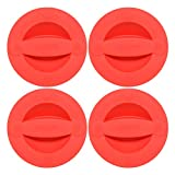 Pyrex 516-RRD-PC 2 Cup Red Measuring Cup Lid (4-Pack)