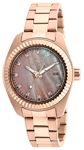 Gold Plated Mop Dial - Invicta Women's 20353 Specialty Analog Display Quartz Rose Gold Watch