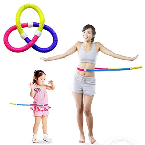 Hula Hoop Spring Weight Increase Sports Portable Environmental Protection PVC Suitable for Adult Children Sports Fitness Weight Loss,A