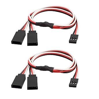 Cable Conector eDealMax 2 Pcs M/F JST Y Splitter Para RC ...