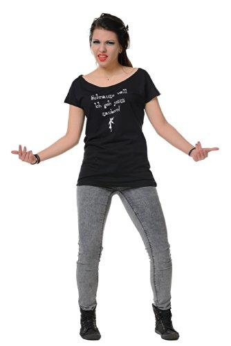 Camiseta mujer Voll negro Noir museau 3elfen UUqwrvF
