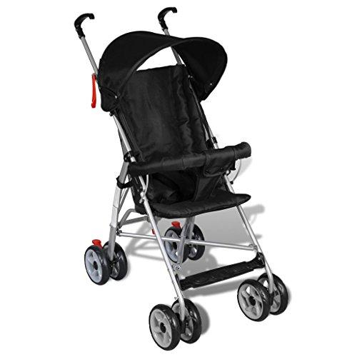 vidaXL Kinderwagen Buggy Sportwagen Babywagen Babyjogger Reisebuggy Schwarz