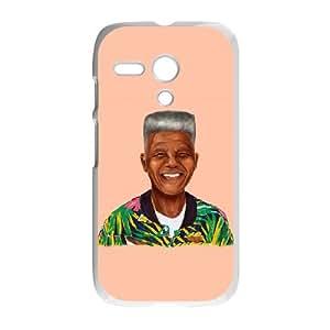 Motorola G Cell Phone Case White Hipstory Nelson Mandela Ledqf