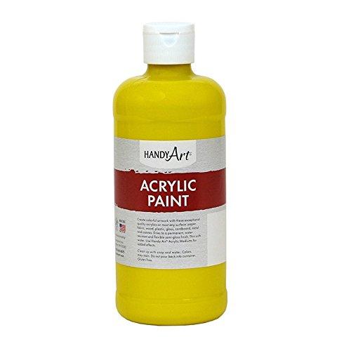Handy Art Student Acrylic Paint 16 ounce, Chrome Yellow