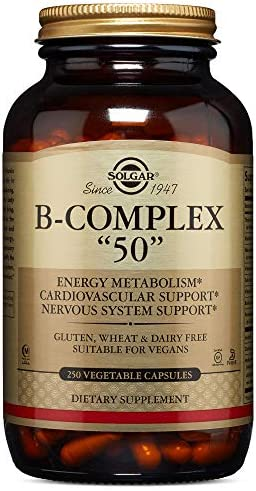 Solgar – B-Complex 50 , 250 Vegetable Capsules