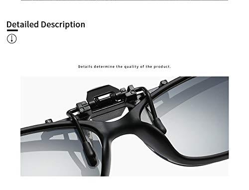 Aprigy de de Oro Sun Las Hombres Sol Light Lente Gafas de Clip en vidrios Clip polarizadas Que Unisex Super conducían gris Lentes Accesorios los la rtf7qngr