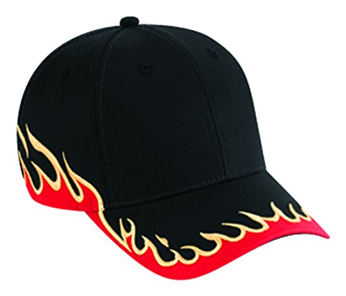 Otto Caps Flame Pattern Cotton Twill Low Profile Pro Style ()