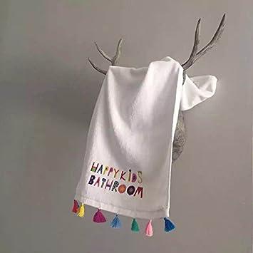 Upper-Carta de color rojo neto diosa bordadas, Toalla de baño, toalla, encajes, puntillas, encajes, Piel suave, toalla blanca, toalla: Amazon.es: Hogar