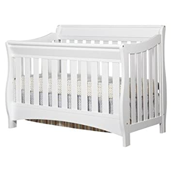 Amazon Com Delta Bentley 4 In 1 Convertible Sleigh Crib White Baby