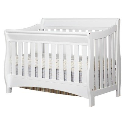 Delta Bentley 4-in-1 Convertible Sleigh Crib WHITE