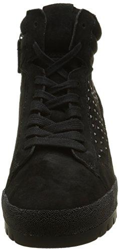 Gabor Shoes Comfort Sport, Botas Efecto Arrugado para Mujer Negro (Schwarz micro)