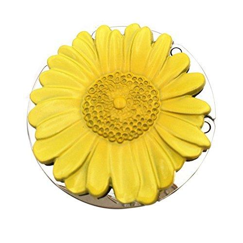 SODIAL(R) Purse Hook, Sunflower Foldable Handbag Purse Hanger Hook Holder for (Tiffany Folding Home Bar)