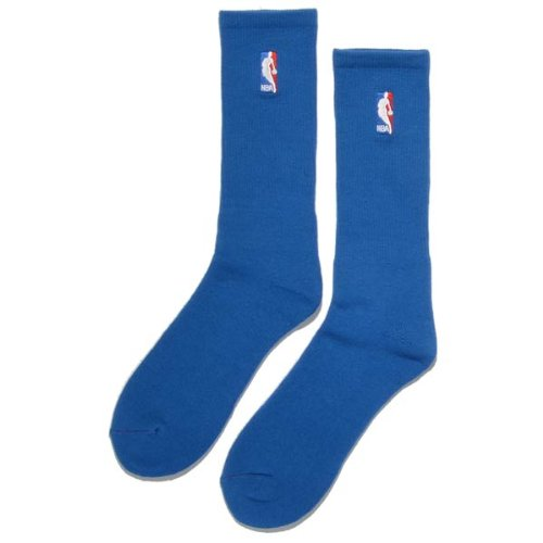 FBF Originals Socks NBA Regular Logo Crew Royal Blue 1pair - Large (men 10-13) by For Bare Feet