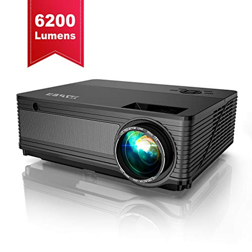 YABER Native 1080P Projector 6200 Lux Upgrad Full HD Video Projector (1920 x 1080) Support 4k and Zoom, Home & Outdoor Projector Compatible with TV Stick,HDMI,VGA,USB, Smartphone,PC,Xbox