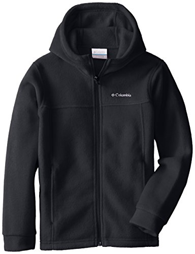 Columbia Big Boys' Steens II Fleece Hoodie, Black, Medium (10/12)