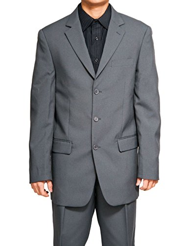 Fortino Landi Men's 3 Button Single Breasted Dress Suit 8022-Gray-60R