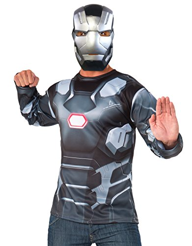 Marvel Men's Captain America: Civil War Machine Long Sleeve Costume Top, Multi, One Size (Top Halloween Costumes 2017 Adults)