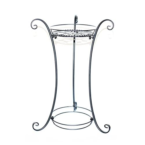 Cheap Classic Demountable 23-Inch Metal Finial Plant Stand/Plant Stand with Finial(Black) supplier