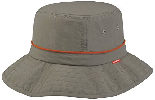 - Juniper Taslon UV Bucket Cap with Red Piping, One Size, Olive with Orange Piping