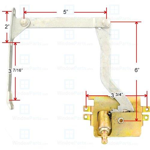 Pella Replacement Window - Pella Roto Operator Left Hand (1967-1993)