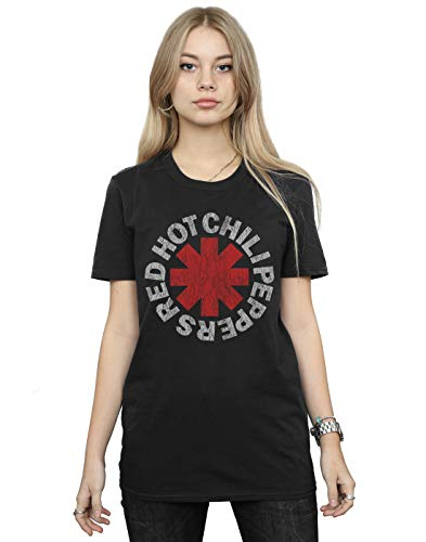 Red Hot Chili Peppers Women's Classic Asterisk Boyfriend Fit T-Shirt Black XX-Large from Absolute Cult
